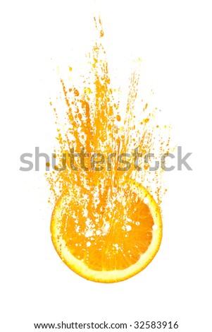 Explosive Orange - stock photo