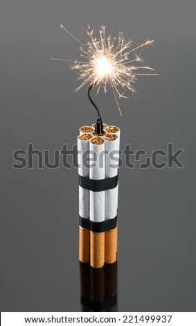 Explosives from cigarettes - stock photo