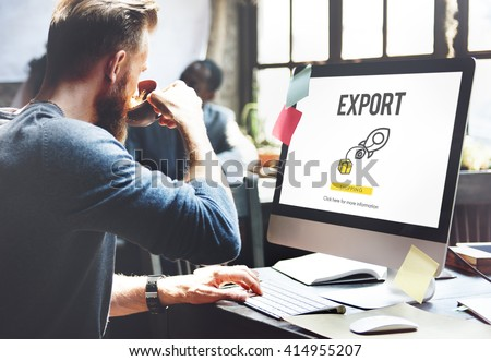 Export Logistic Cargo Freight Manufacturing Concept - stock photo