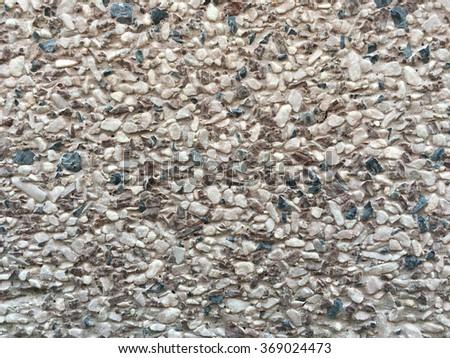 exposed aggregate finish - stock photo