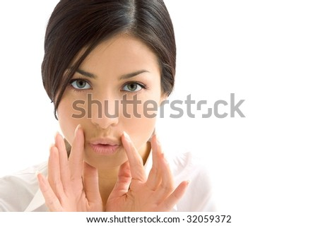 expression background - stock photo