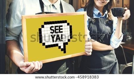 Expression Words Emotion Communication Slang Concept - stock photo