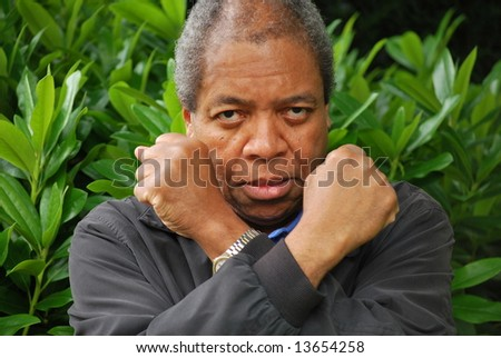 Expressions of a african american male. - stock photo