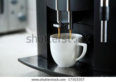Expresso coffee machine - stock photo