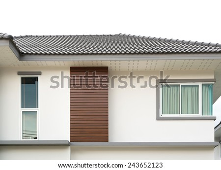 Exterior new Townhome or Townhouse - stock photo