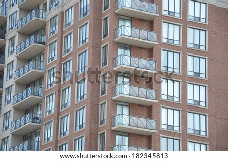 Exterior of a residential building - stock photo