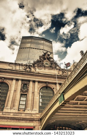 Exterior of Grand Central Terminal in New York City. - stock photo