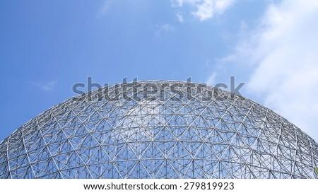 Exterior of the Montreal Biosphere - stock photo