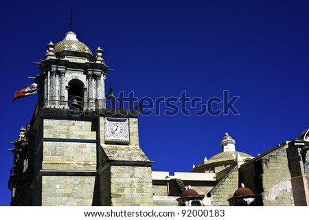 Exterior of the Soccolo cathedral in Oaxaca Mexico - stock photo
