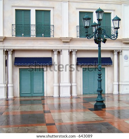 Exterior of the Venetian Hotel in Las Vegas - stock photo