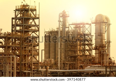 exterior tube of petrochemical industry - stock photo