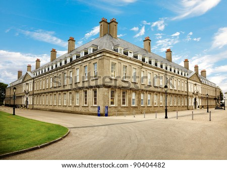 Exterior view at Irish Museum of Modern Art, Dublin, Ireland. The building was the former Royal Hospital Kilmainham. - stock photo