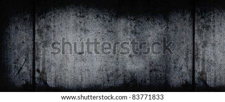 Extra Large Dark Grunge Horizontal Background - stock photo