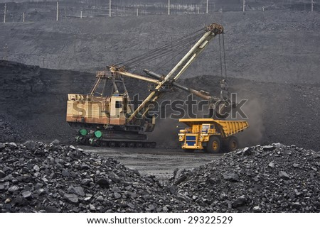 extraction, mining, quarrying - stock photo