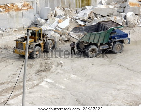 Extraction of a marble - stock photo