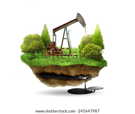 Extraction of oil.  - stock photo