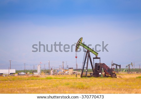 Extraction oil deposits at manufacturing zone - stock photo