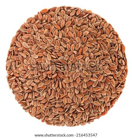 Extreme closeup of Lin seeds details - studio shot - stock photo