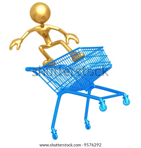 Extreme Shopping - stock photo
