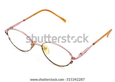 Eye glasses isolated on white background. - stock photo