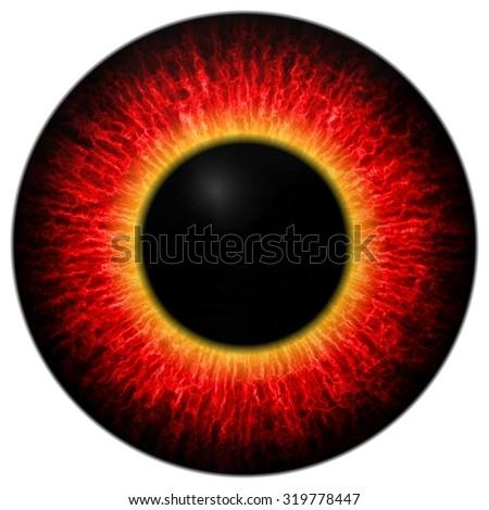 Eye iris generated realistic color  - stock photo
