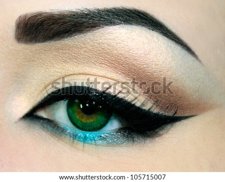 Eye make-up - stock photo
