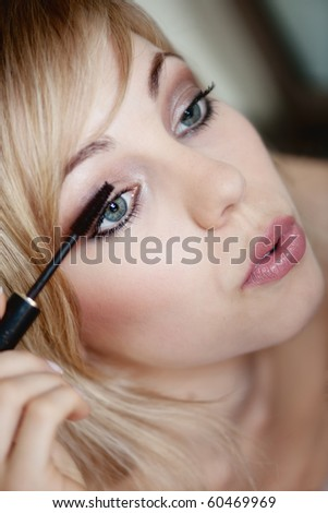 eye make up - stock photo