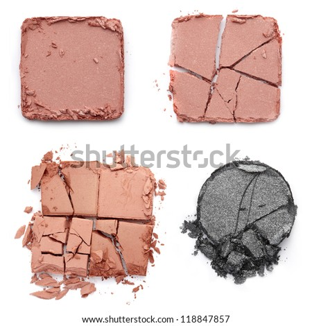 Eye shadow crushed on white - stock photo
