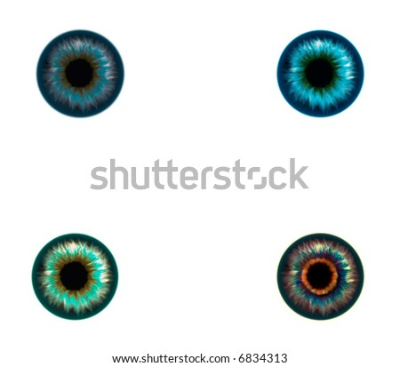 Eye textures for your 3d projects - stock photo
