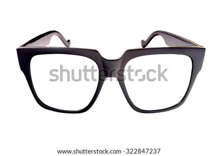 Eyeglasses frame isolated on white. - stock photo
