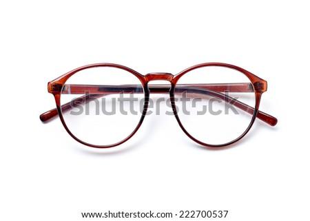 Eyeglasses isolated on white. - stock photo