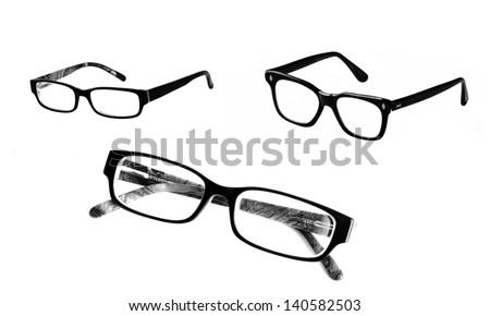 Eyeglasses set, isolated - stock photo