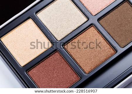 Eyeshadow palette - stock photo