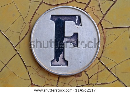 F - stock photo