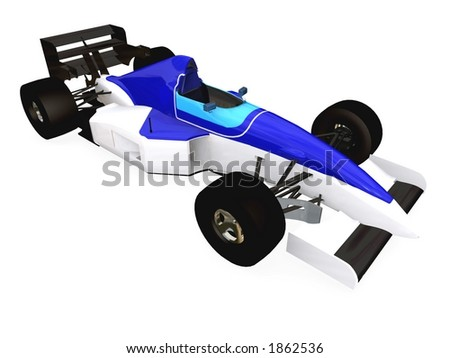 F1 blue racing car vol 3 - stock photo