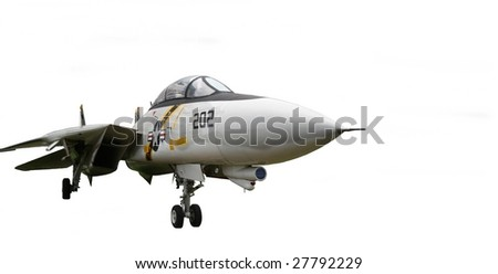 F-18 fighter isolated - stock photo