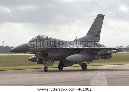 F/16 fighter jet - stock photo