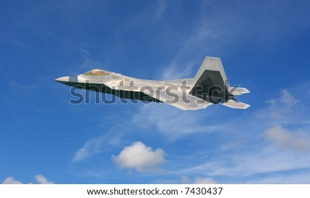 F-22 Raptor Fighter Jet High Resolution - stock photo