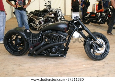 FAAKER SEE, AUSTRIA - SEPTEMBER 11: Custom motorcycles are shown at European Bike Week on September 11, 2009 in Faaker See, Austria. The event is billed as the largest European motorcycle event. - stock photo