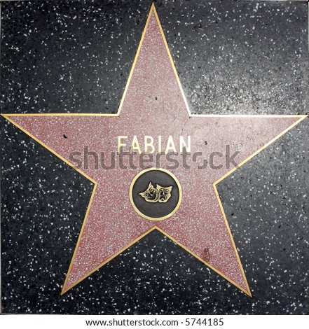 fabian walk of fame star theater - stock photo
