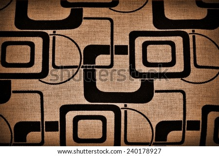Fabric - a piece of fabric in use - geometric pattern - stock photo