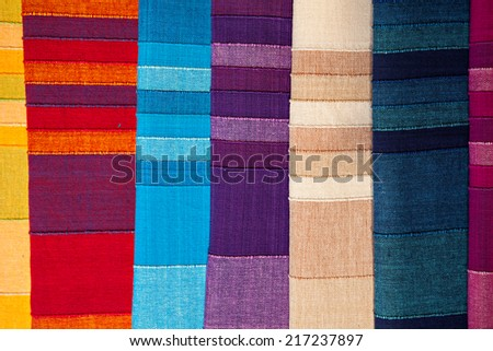 Fabric Background colourful Texture.  - stock photo