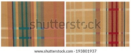 fabric collection. - stock photo