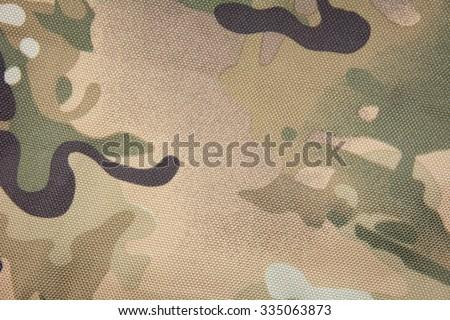 Fabric khaki camouflage - stock photo