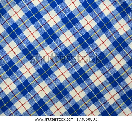 Fabric plaid texture. Cloth background - stock photo