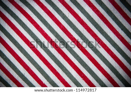 Fabric texture in gray and red stripes close up - stock photo