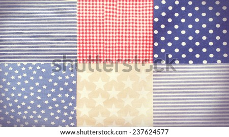 fabric texture in traditional American style - stock photo