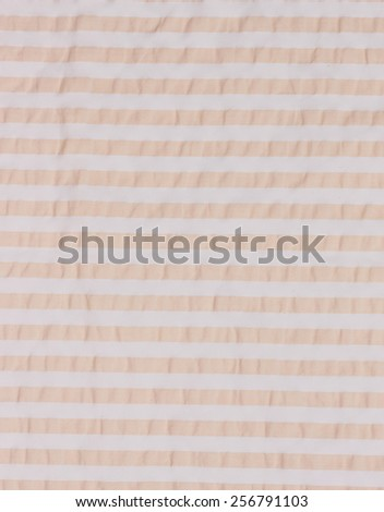 fabric texture white and brown stripes - stock photo
