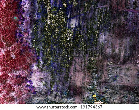 fabulous cave with gems, fantasy gift finder, diamonds, sapphires, rubies, emeralds, all colors of the rainbow, the wizard photo shop - stock photo