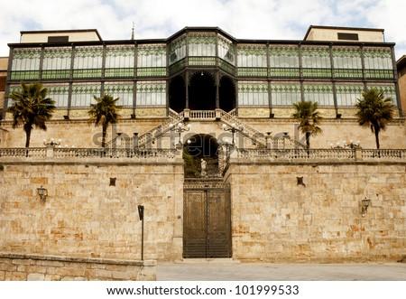 Facade Art Nouveau and Art Deco Museum /Casa Lis/ in Salamanca (Spain) - stock photo